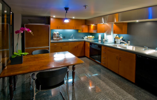 clock tower loft kitchen